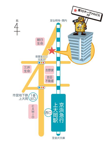 横浜上大岡のミューズポートボーカル新教室地図