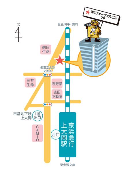 ミューズポートボーカル教室(横浜・上大岡)地図
