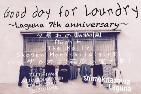 Laguna 7th anniversary!!!「Good day for Laundry」